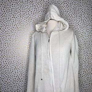 Max Mara knit zip up hooded jacket